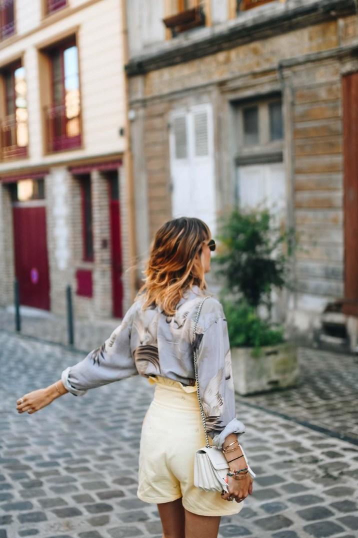 short jaune taille haute-5