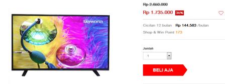 jual TV LED terbaru