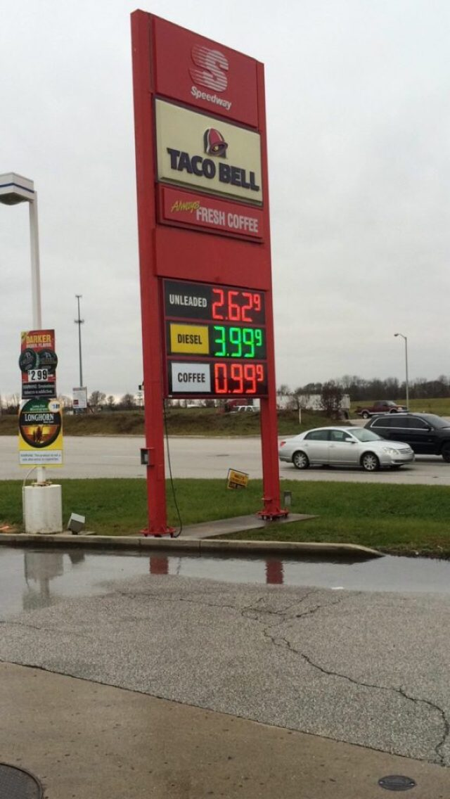 Today's Gas Price is $0.99