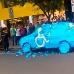 Pranking the Car Wrongfully Parked in Handicap Spot‏