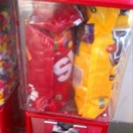 Wrong way to refill candy machine
