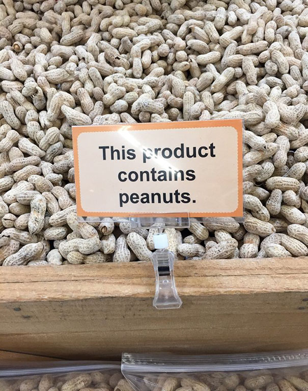 This product contains peanuts