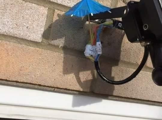 Waterproofing the wires