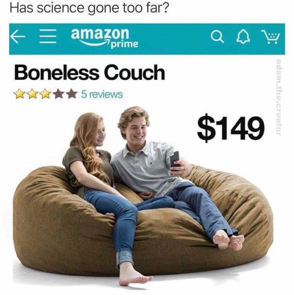Boneless couch