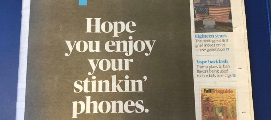 Last Issue of Washington Post Express