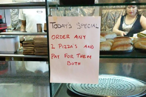 [Today's Speical] Order 2 Pizza and Pay for Them Both.jpg
