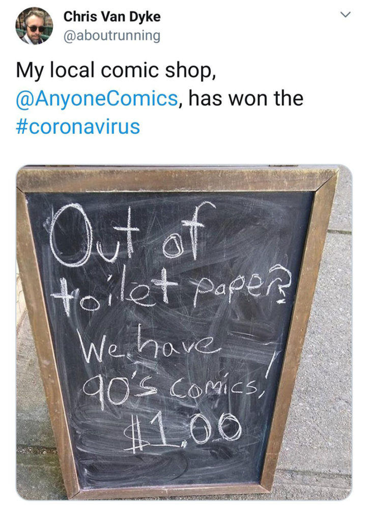 Local Comic Shop Wins the Toilet War of 2020