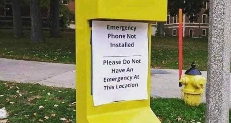 No Emergency Allowed in This Location