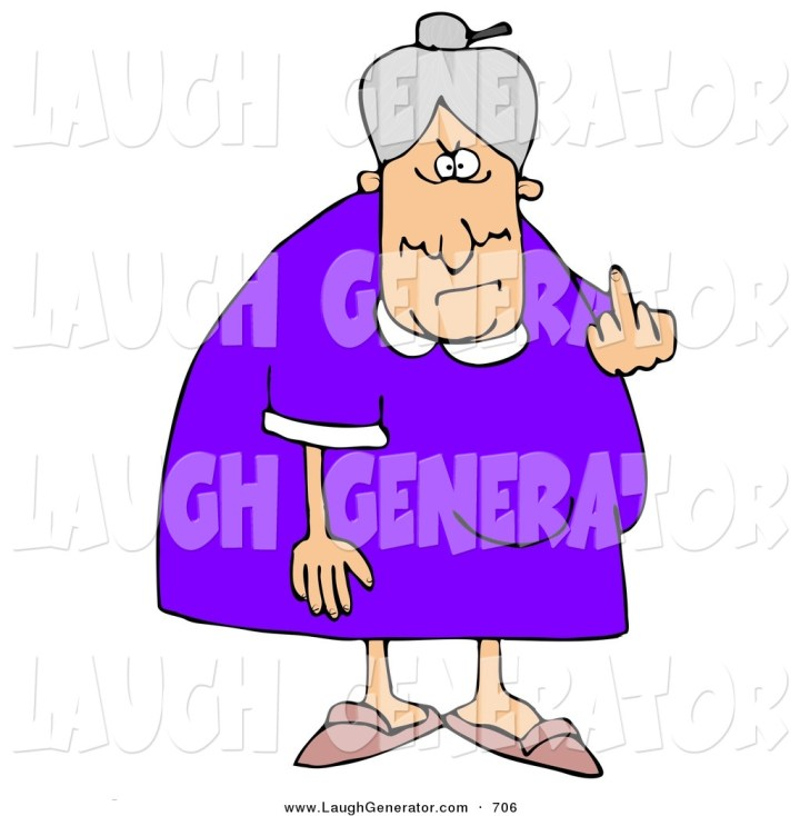 crazy old lady clip art
