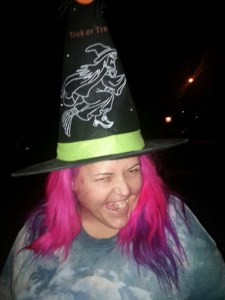 Purple hair witch