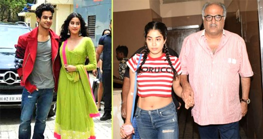 Boney Kapoor is Overwhelmed with Daughter Janhvi Kapoor's Zingaat