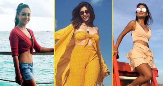 Kishwer, Abhigail And Sreejita Are Soaking In Sun On The Beautiful Beaches Of Maldives