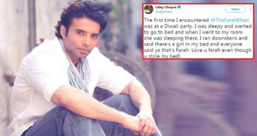 Uday Chopra Recalls An Incident When He Found Farah Khan On His Bed And He Ran Away