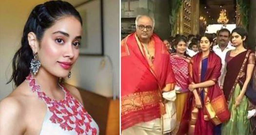 Janhvi Took Blessings At Tirupati Ahead Of Dhadak's Release