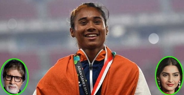 Hima Das Wins Fifth Gold Medal In 19 Days, Bollywood Celebs Congratulate Her