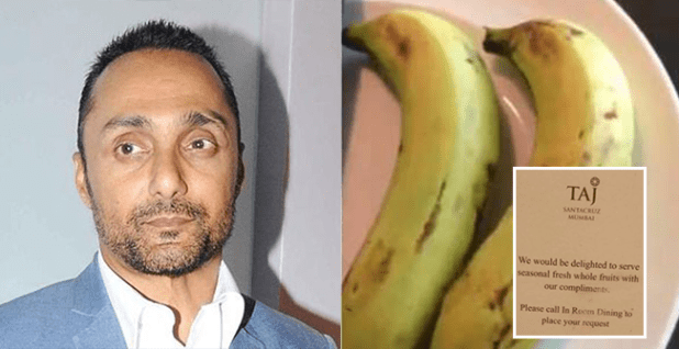 After Rahul Bose's banana bill video in Marriott, Taj offers complimentary fruits