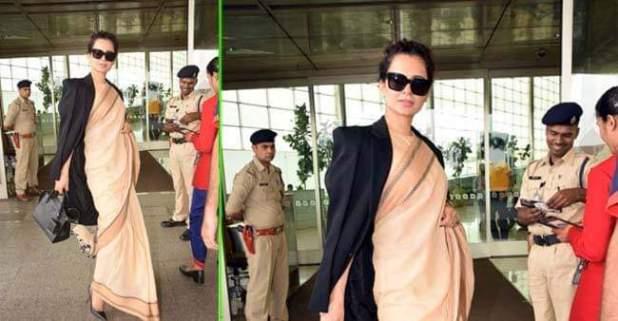Kangana Ranaut Called A Hyprocrite For Wearing Rs 600 Saree With A Prada Bag