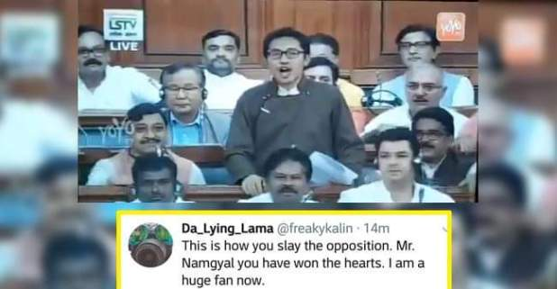 Twitteraties applauding on BJP MP from Ladakh, Namgyal's Parliament speech