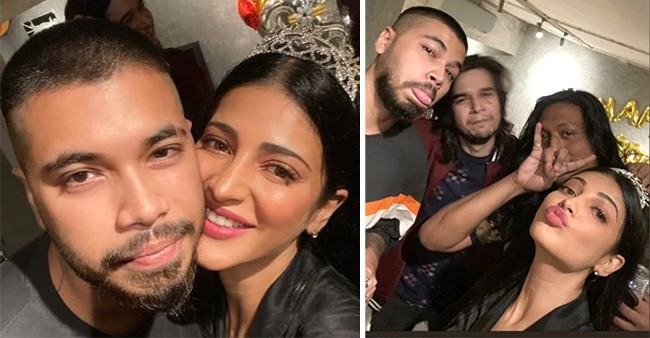 Actress Shruti Haasan discloses a unique nickname for beau Santanu on the birthday post