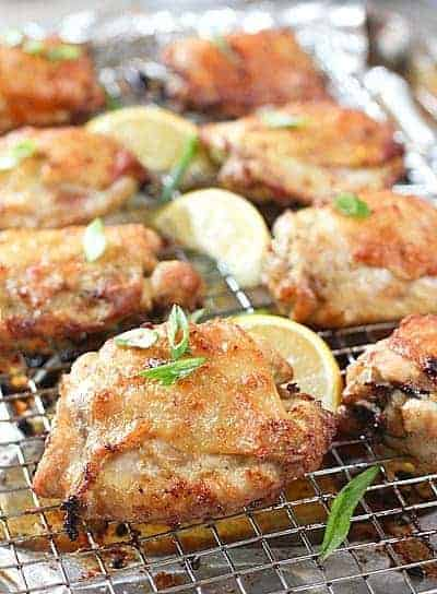 Oven Baked Chicken Thighs With Skin