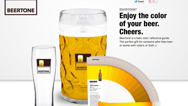 beertone a beer reference guide that looks like a color swatch book - Pantone Color Swatch Book