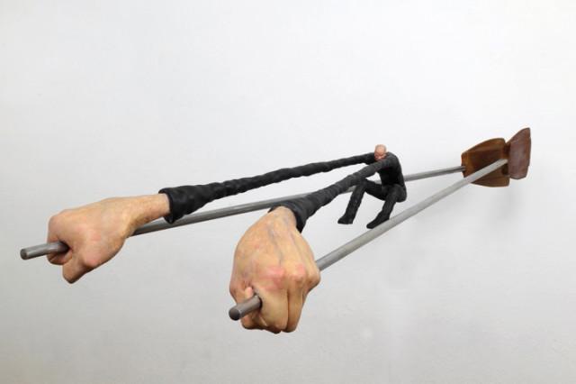 Whimsical figure sculptures by Gerardo Feldstein