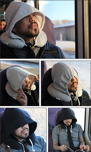 hooded travel pillow for stylish napping