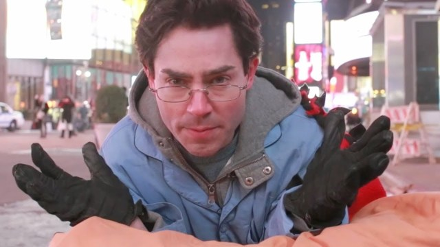 b0d820b3883 Mark Malkoff Tries to Fall Asleep in Times Square While Being Carried  Around in a Bed
