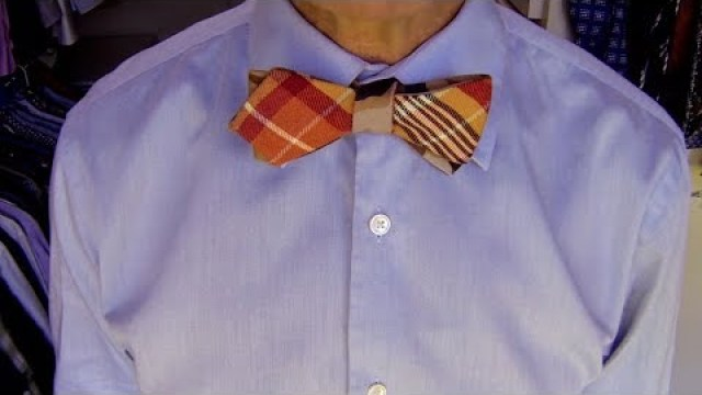 Stop motion animation shows how to tie a bow tie alton brown demonstrates how to tie a bow tie ccuart Images