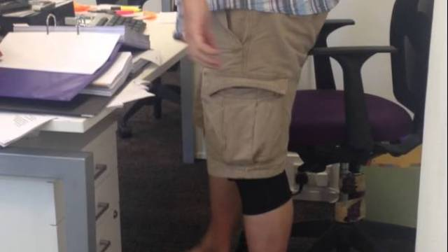 Employees Scare Their Boss by Rigging a Loud Air Horn Under His Office Chair - Air Horn Office Chair Prank