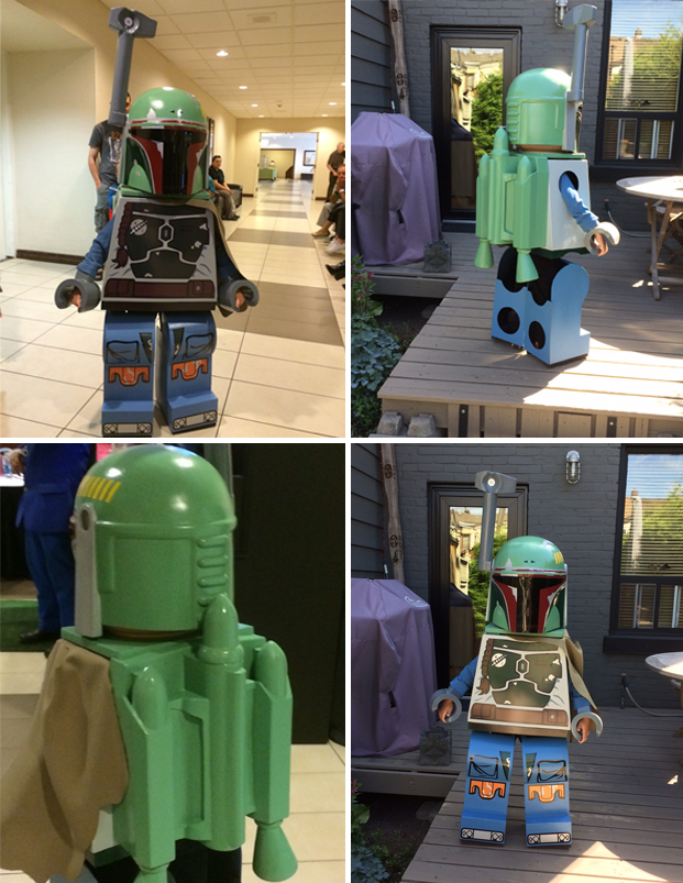 A Dad Makes His Six Year Old Son A Lego Star Wars Boba