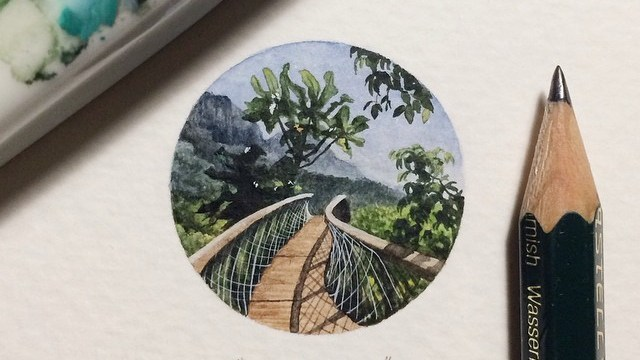 Artist Is Making A Wonderfully Intricate Paper Architectural - Artist creates miniature paintings everyday entire year