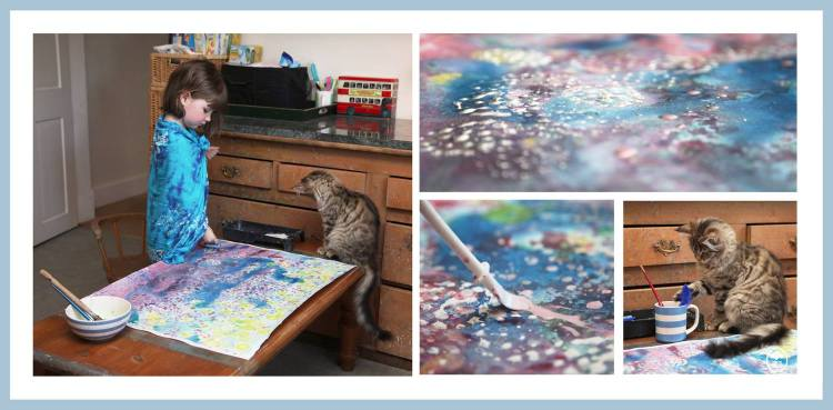 Iris and Thula Painting