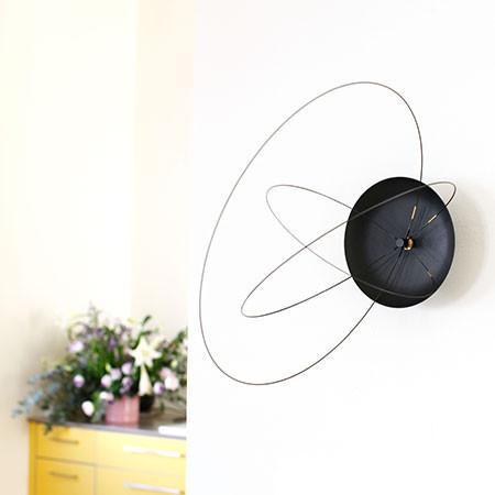 Popular The Orbits Clock A Wall Clock With Rotating Carbon Fiber Circles for Hands