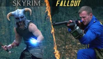 Battle Damaged Skyrim Dragonborn Iron Helmet