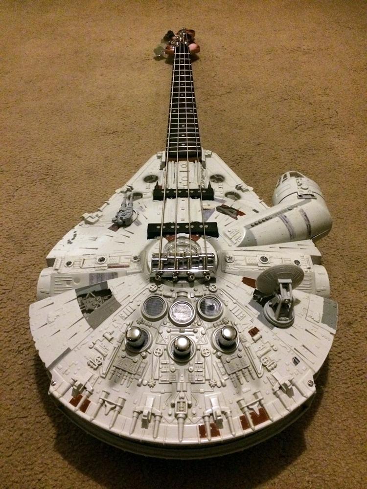 A Custom Built Star Wars Millennium Falcon Six String