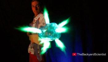 A Homemade Cornstarch Flamethrower Built Using a Leaf Blower
