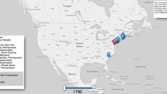 1790 Map Of United States.An Animated Map Visualizing The Enormous Population Growth Of The