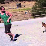Teeny Tiny Three Day Old Miniature Horse Chases His Human Around a Dirt Track