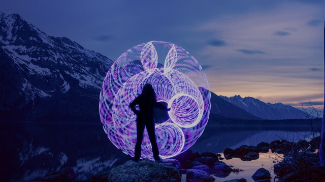 55971c70eaf4 A Gorgeous Photo Series Capturing the Motion of an LED Hula Hoop Against a  Natural Landscape