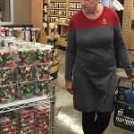 A Woman Wears a Star Trek Starfleet Uniform Outfit That She Seemingly Put Together by Accident