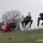 Boston Dynamics Holiday Video Featuring Three Robotic 'Reindeer' Pulling Santa on Her Sleigh