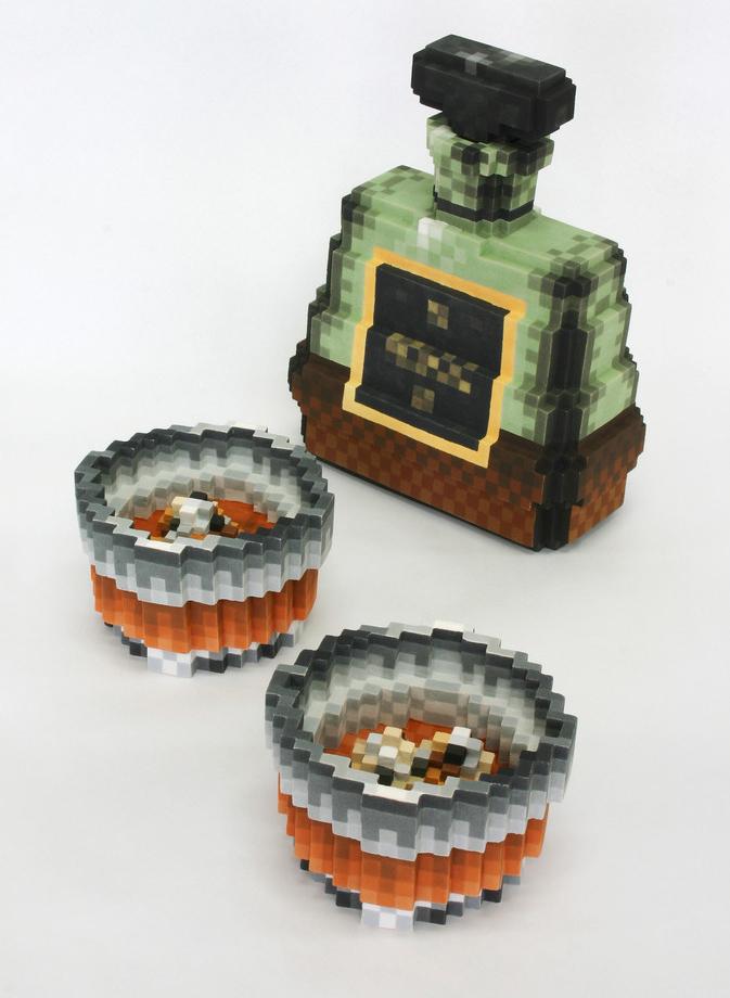 Pixelated Ceramic Sculptures