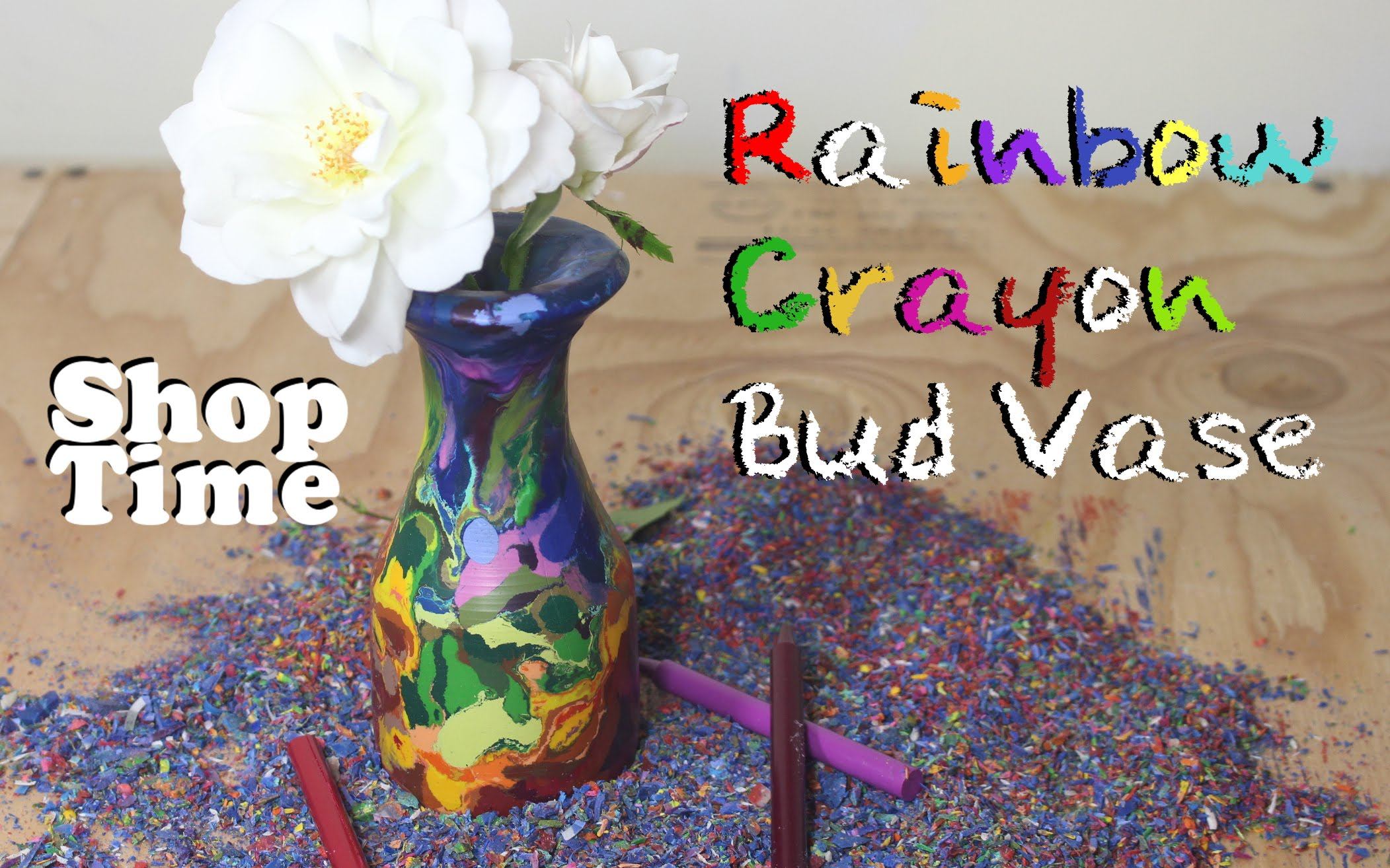 Popular How to Turn a Large Block of Melted Crayons Into a Colorful Flower Vase Using