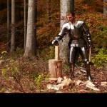 Testing a Knight's Mobility While Wearing a Full Set of Metal Armor