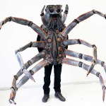 A Realistic Spider Costume Featuring Flicking Tongue Action and a Voice Changer