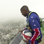 Harlem Globetrotter Makes Incredible 583-Foot Trick Shot From the Top of Tower of the Americas