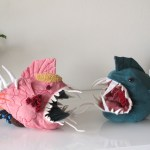 Morris, An Interactive Stuffed Animal Fish That Can Be Turned Inside Out to Examine His Innards