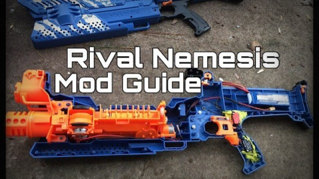how to turn the nerf rival nemesis mxvii 10k blaster into a foam