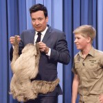Steve Irwin's Look-Alike 13-Year Old Son Robert Introduces Jimmy Fallon to a Friendly Sloth